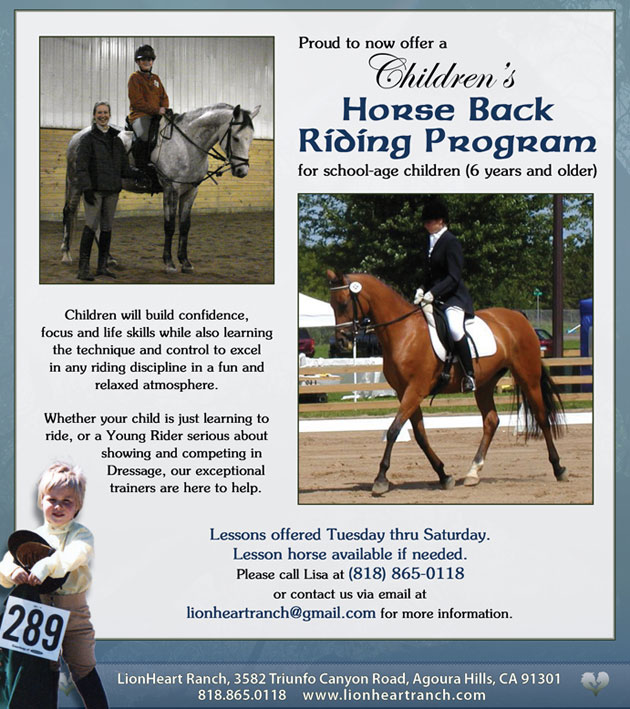 Children's Horse Back Riding Program